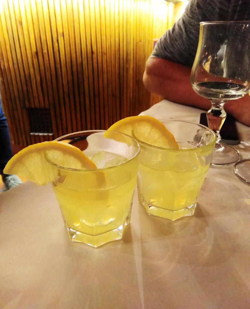 deux verres de Limoncello