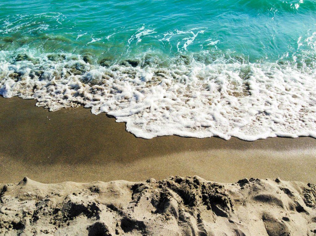 sable en bord de mer