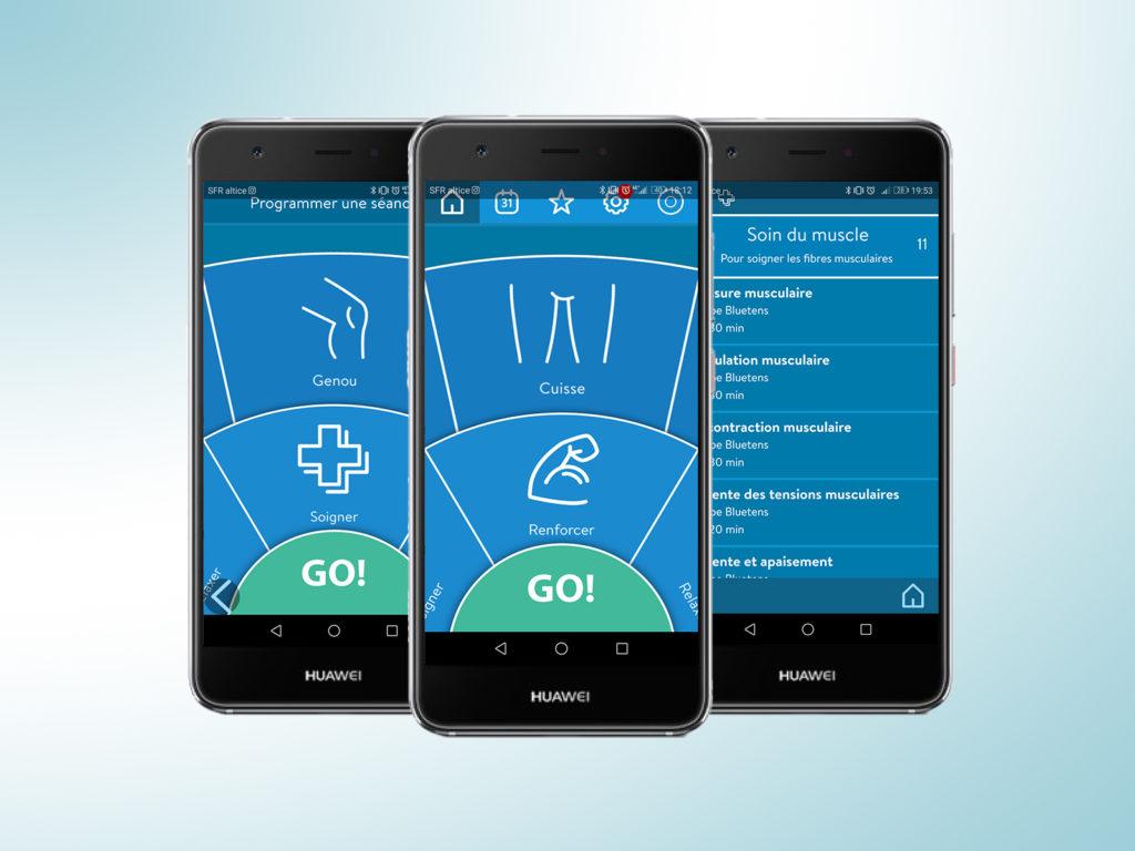 interfaces application Bluetens