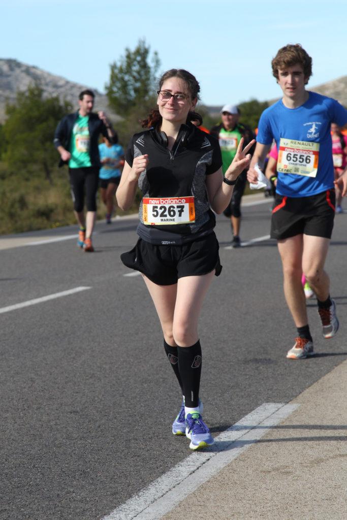 Zazu pendant la course