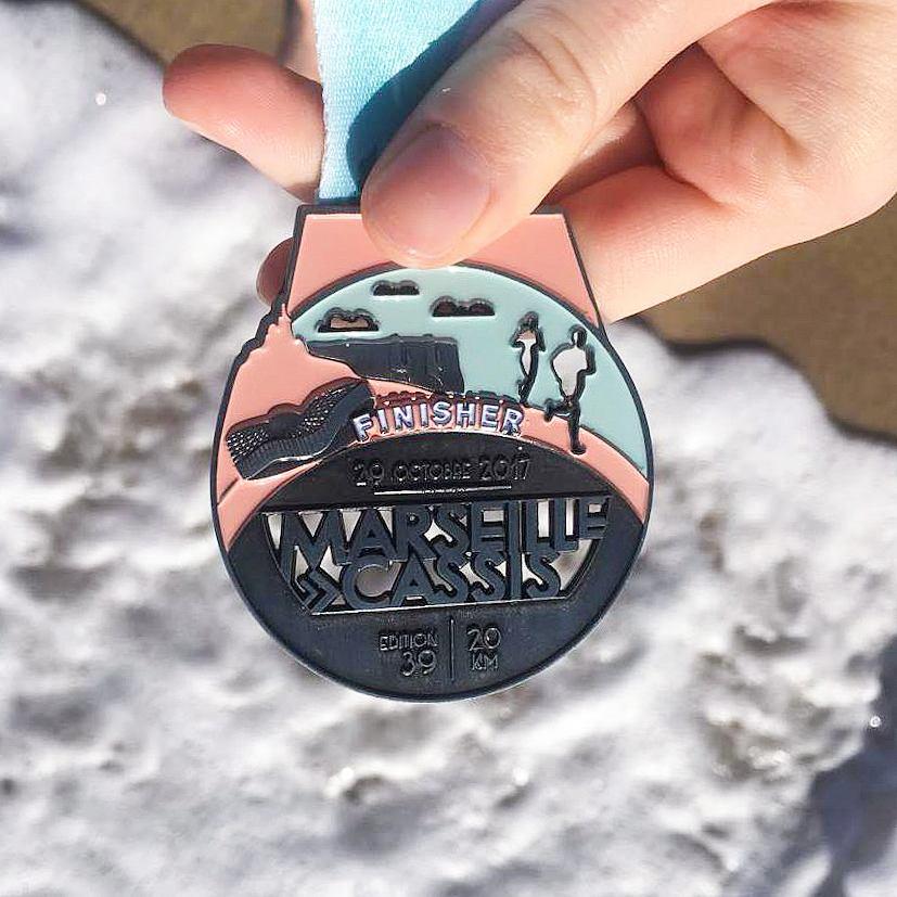 Médaille finisher de la course Marseille-Cassis