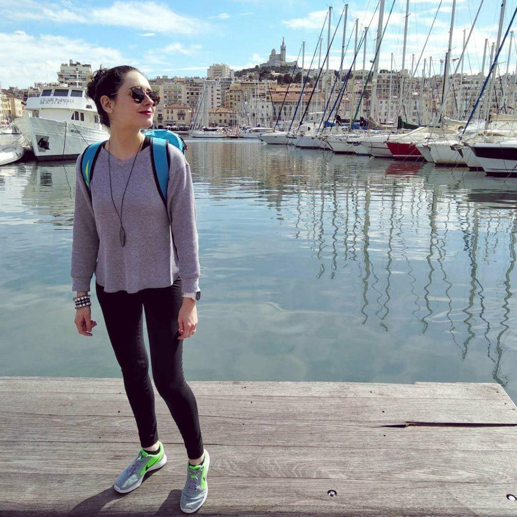 Marseille : moi sur le Vieux Port